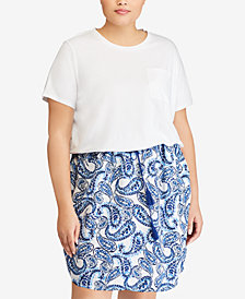 Lauren Ralph Lauren Plus Size Paisley-Print Dress, Created for Macy's