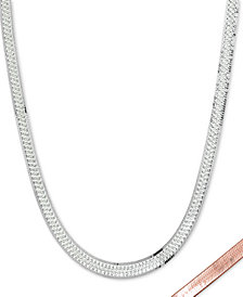 "Giani Bernini Two-Tone Reversible 16"" Chain Necklace in Sterling Silver & 18k Gold-Plate, Created for Macy's"