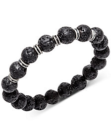 Kenneth Cole Reaction Men's Lava Beaded Stretch Bracelet