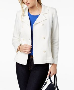 DOUBLE-BREASTED BLAZER, CREATED FOR MACY'S
