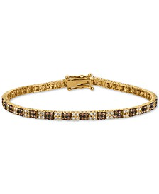 Le Vian Chocolatier® Diamond Cluster Tennis Bracelet (2-1/10 ct. t.w.) in 14k Gold
