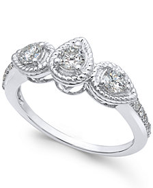 Diamond Rope-Framed Engagement Ring (5/8 ct. t.w.)