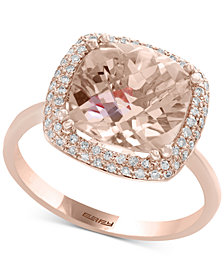 Blush by EFFY® Morganite (3-5/8 ct. t.w.) & Diamond (1/4 ct. t.w.) Ring in 14k Rose Gold