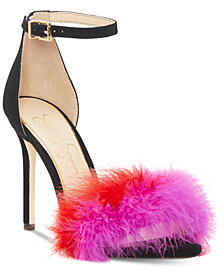 Jessica Simpson Jesaphine Furry Dress Sandals