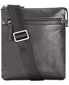 Hugo Boss Men's National Leather Crossbody Bag
