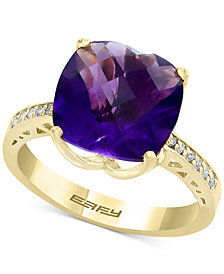 EFFY® Amethyst (4-7/8 ct. t.w.) & Diamond Accent Ring in 14k Gold