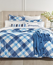 Painted Plaid Duvet Cover Sets, Created for Macy's
