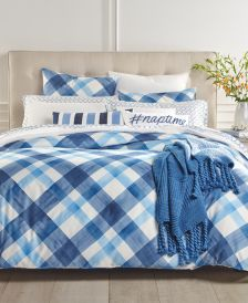 CLOSEOUT! Painted Plaid 3-Pc. Full/Queen Comforter Set, Created for Macy's