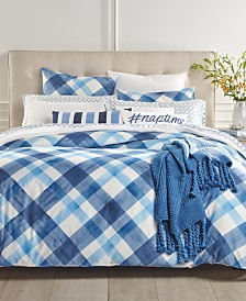 CLOSEOUT! Charter Club Damask Designs Painted Plaid 3-Pc. Full/Queen Comforter Set, Created for Macy's