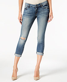Kut from the Kloth Ripped Cropped Skinny Jeans