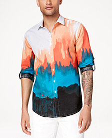 I.N.C. Men's Tie Dyed Button Down Shirt, Created for Macy's