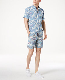 Superdry Men's Miami Loom Palm-Print Shirt & Nue Wave Classic-Fit Palm-Print Shorts