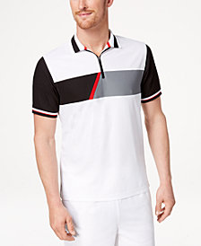 Club Room Men's Colorblocked Zip Polo, Created for Macy's