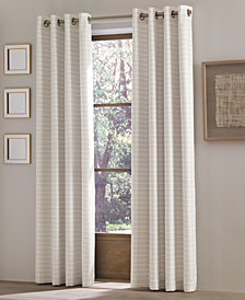 "J Queen New York Essex 50"" x 84"" Checker Stripe Grommet Curtain Panel"