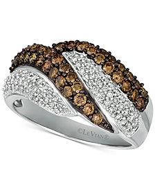 Le Vian Chocolatier® Diamond Swirl Ring (1-1/8 ct. t.w.) in 14k White Gold