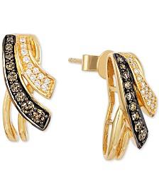 Le Vian Chocolatier Diamond Drop Earrings 1 3 Ct T W In
