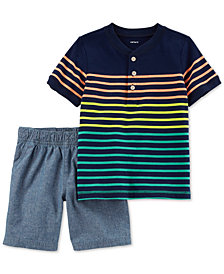 Carter's 2-Pc. Striped Shirt & Shorts Set, Toddler Boys