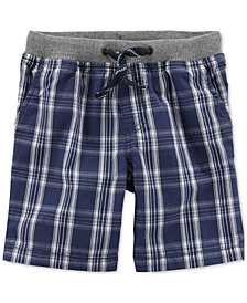 Carter's Little Boys Plaid Cotton Shorts