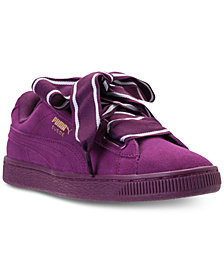 Puma Women's Suede Heart Satin II Casual Sneakers from Finish Line