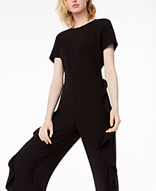 Bar III Ruffled Jumpsuit, Created for Macy's