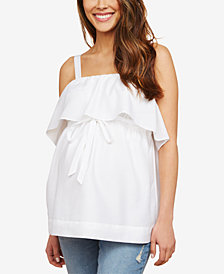 Motherhood Maternity Tiered Top