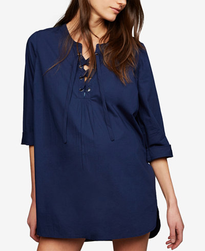 A Pea In The Pod Maternity Lace-Up Swim Cover-Up