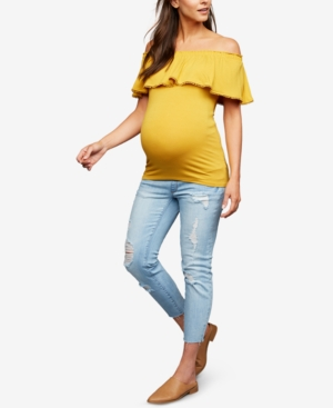 Image of A Pea in the Pod Maternity Cropped Skinny Jeans