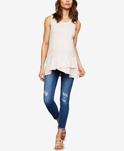 Articles Of Society Maternity Distressed Skinny Jeans