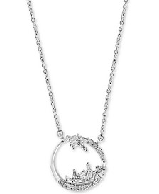 """EFFY® Diamond Abstract Open Disc 18"""" Pendant Necklace (1/3 ct. t.w.) in 14k White Gold"""