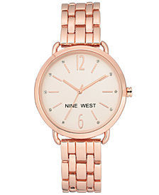 Nine West Women's Rose Gold-Tone Bracelet Watch 36mm