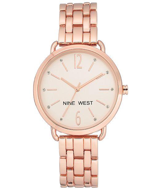 88f4040bc824 Nine West Women s Rose Gold-Tone Bracelet Watch 36mm   Reviews