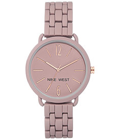 Nine West Women's Mauve Rubberized Bracelet Watch 38mm