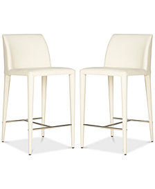 Erin Linen Counter Stool (Set Of 2), Quick Ship