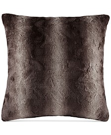 "Zuri Faux-Fur 25"" Square European Decorative Pillow"