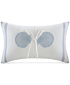 """Harbor House Crystal Beach 12"""" x 20"""" Embroidered Oblong Decorative Pillow"""