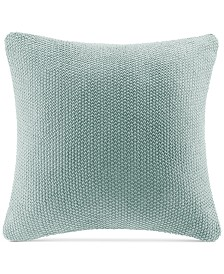 """INK+IVY Bree Chunky-Knit 20"""" Square Pillow Cover"""