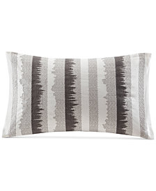 """INK+IVY Chet 12"""" x 20"""" Embroidered Oblong Decorative Pillow"""