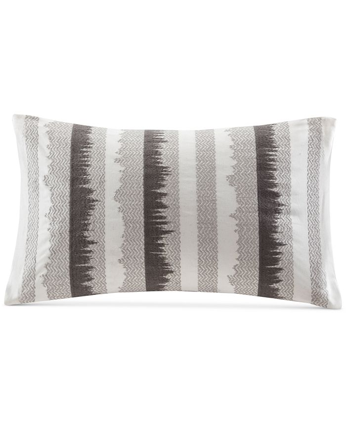 """INK+IVY - Chet 12"""" x 20"""" Embroidered Oblong Decorative Pillow"""