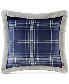 "Woolrich Plush Faux-Fur 20"" Square Decorative Pillow"