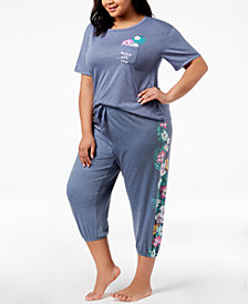 Jenni by Jennifer Moore Plus Size Pocket Pajama Top & Jogger Pajama Pants, Created for Macy's