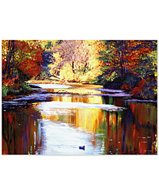 "David Lloyd Glover 'Reflections of August' 35"" x 47"" Canvas Wall Art"