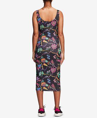 Adidas jardin floral print Tank Dress Vestidos mujeres Macy 's