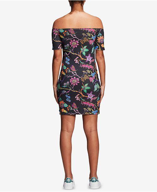 5ef8aba2c192 adidas Garden Reversible Off-The-Shoulder Dress   Reviews - Dresses ...