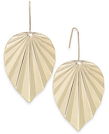 Thalia Sodi Gold-Tone Palm Leaf Drop Earrings, Created for Macy's
