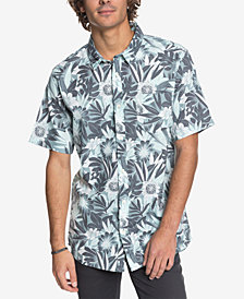 Quiksilver Men's Hippy Beach Tropical-Print Pocket Shirt