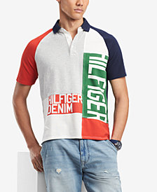 Tommy Hilfiger Denim Men's Arnold Patched Graphic-Print Logo Polo, Created for Macy's