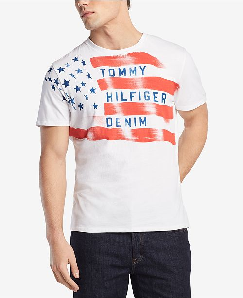 a40a85420781 Tommy Hilfiger Men s Flag Graphic-Print T-Shirt   Reviews - T-Shirts ...
