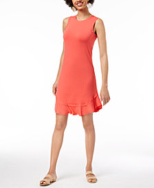 Maison Jules Ruffled-Hem A-Line Dress, Created for Macy's