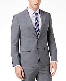 HUGO Men's Extra-Slim Fit Gray Crosshatch Suit Jacket