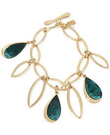 Robert Lee Morris Soho Gold-Tone & Patina Charm Link Bracelet
